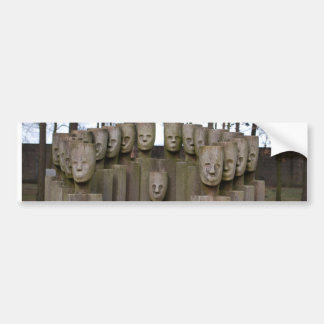 Commemorative Statues in Berlin Germany Car Bumper Sticker