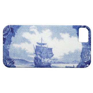 Commemorative vintage blue & white Mayflower China iPhone SE/5/5s Case