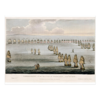 Commencement of the Battle of Trafalgar, 21st Octo Postcard