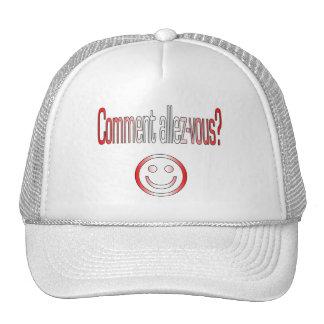 Comment Allez-Vous? Canada Flag Colors Trucker Hats