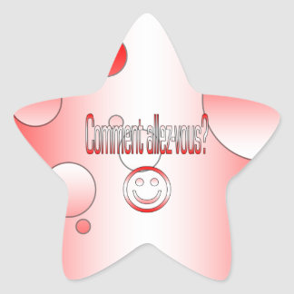 Comment Allez-Vous? Canada Flag Colors Pop Art Star Sticker