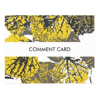 comment card aspen leaves