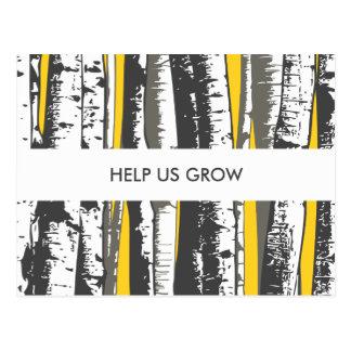 comment card aspen trees