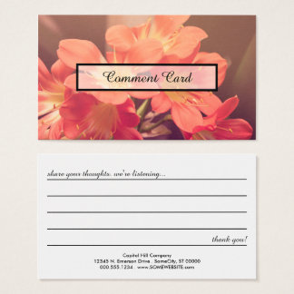 comment card beautiful flowers