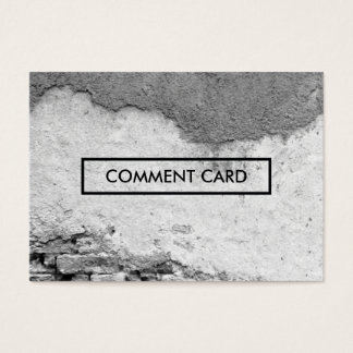 comment card city wall