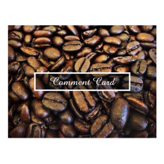 comment card coffee beans