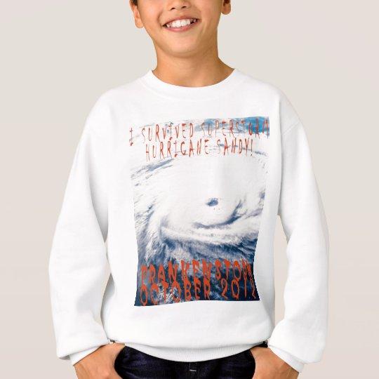 Commerative I survied Hurricane Sandy Frankenstorm Sweatshirt