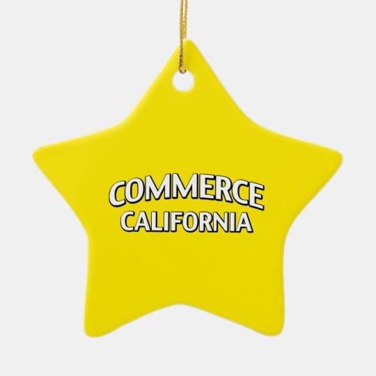 Commerce California Ceramic Ornament