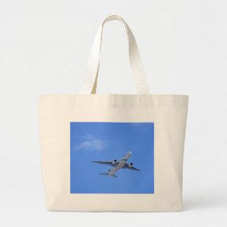 Commercial Airliner Large Tote Bag