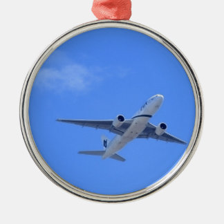 Commercial Airliner Metal Ornament