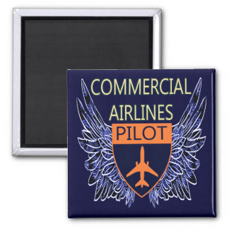 Commercial Airlines Pilot Magnet