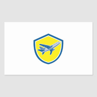 Commercial Airplane Jet Plane Airline Retro Stickers