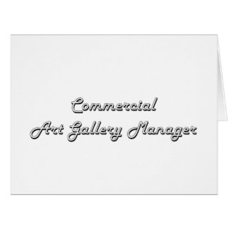 Commercial Art Gallery Manager Classic Job Design Large Greeting Card