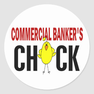 Commercial Banker's Chick Round Sticker