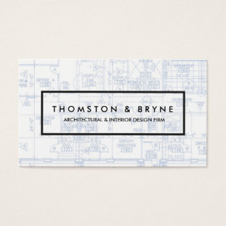 Commercial Builder Architect Blueprint Business Card