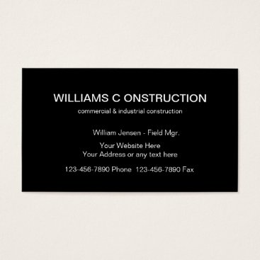 Professional Business Commercial Construction Business Cards