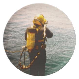 Commercial Diver- Splash plate