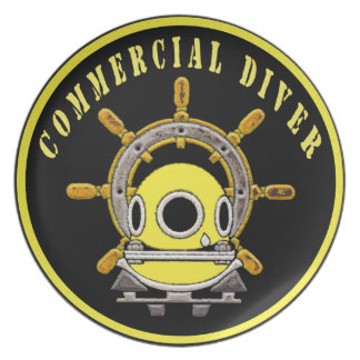 Commercial Diving- helmet and ship wheel plate