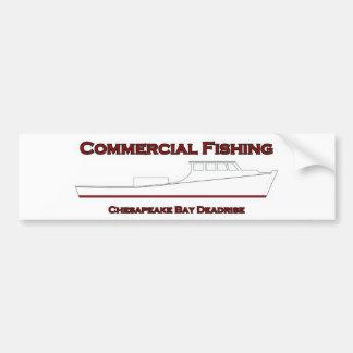 Commercial Fishing Chesapeake Bay Deadrise Boat Bumper Sticker