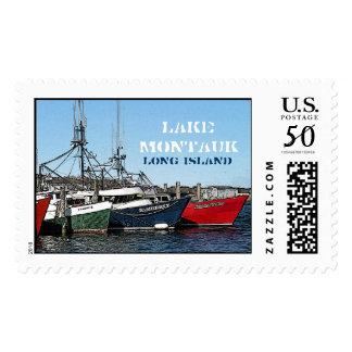 Commercial Fishing Fleet, Lake Montauk, Long Islan Postage