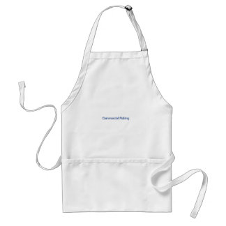 Commercial Fishing Logo (blue text) Adult Apron