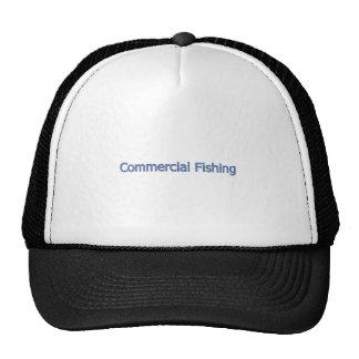 Commercial Fishing Logo (blue text) Trucker Hat