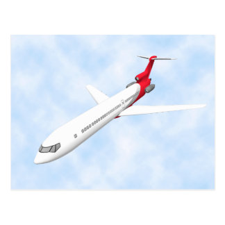 Commercial Jet Airplane: 3D Model: Postcard