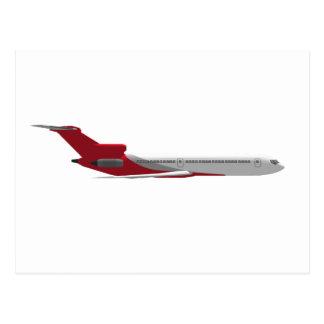 Commercial Jet Airplane: 3D Model: Postcard
