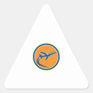 Commercial Jet Plane Airline Flying Retro Sticker