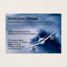 Commercial Jet Plane In The Sky Aviation Large Business Card at Zazzle