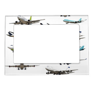 Commercial Jet Variety Pattern Magnetic Picture Frame