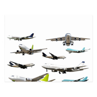 Commercial Jet Variety Pattern Postcard