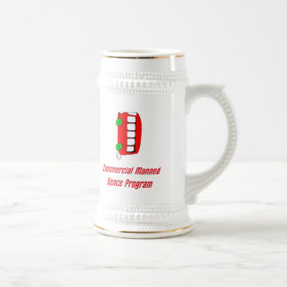Commercial Manned Space Program 18 Oz Beer Stein
