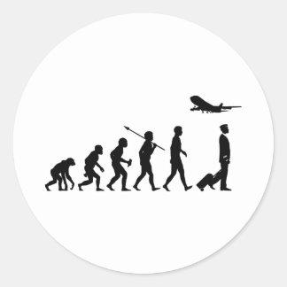 Commercial Pilot Round Sticker