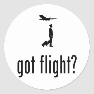 Commercial Pilot Round Stickers
