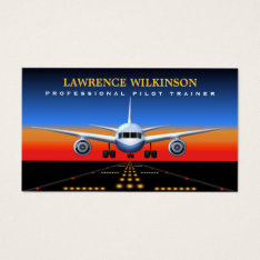 Commercial Pilot Trainer Flight Business Cards at Zazzle