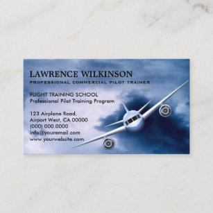 Commercial aviation business cards zazzle commercial plane in sky aviation business cards colourmoves