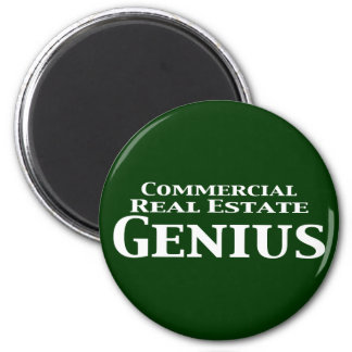 Commercial Real Estate Genius Gifts 2 Inch Round Magnet