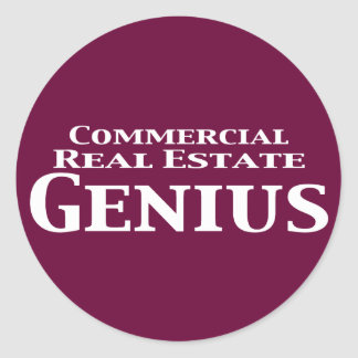 Commercial Real Estate Genius Gifts Classic Round Sticker