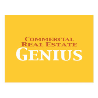 Commercial Real Estate Genius Gifts Postcard