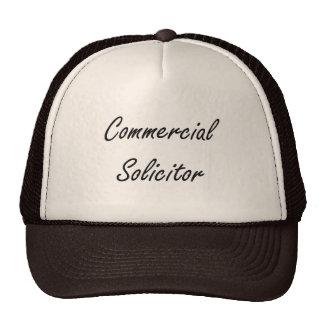 Commercial Solicitor Artistic Job Design Trucker Hat