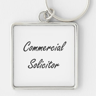 Commercial Solicitor Artistic Job Design Silver-Colored Square Keychain