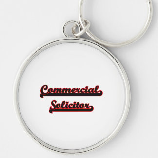Commercial Solicitor Classic Job Design Silver-Colored Round Keychain