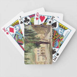 Commercial Square, the Commercial Library and the Poker Cards