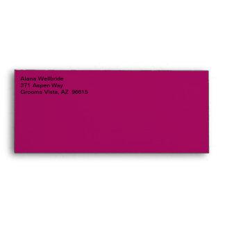Commercial Stylish Raspberry Envelope