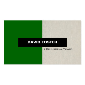 Commercial Teller - Simple Elegant Stylish Business Card