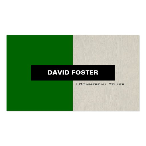 Commercial Teller - Simple Elegant Stylish Business Cards