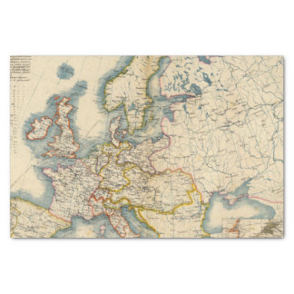 """Commerciale Industrial Map of Europe 10"""" X 15"""" Tissue Paper"""