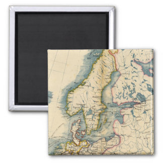 Commerciale Industrial Map of Europe 2 Inch Square Magnet
