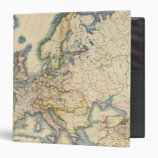Commerciale Industrial Map of Europe 3 Ring Binder